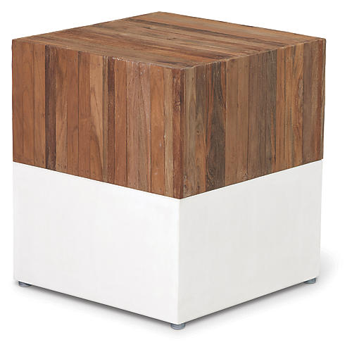 Magic Cube Concrete Stool, Natural