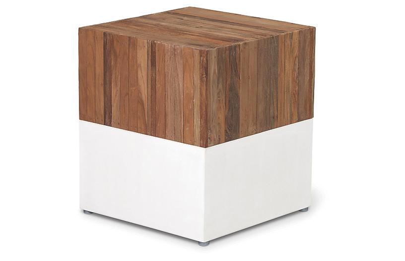 Magic Cube Concrete Stool, Natural