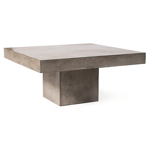 Provence Concrete Coffee Table, Gray