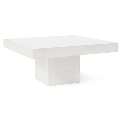 Provence Concrete Coffee Table, Pearl