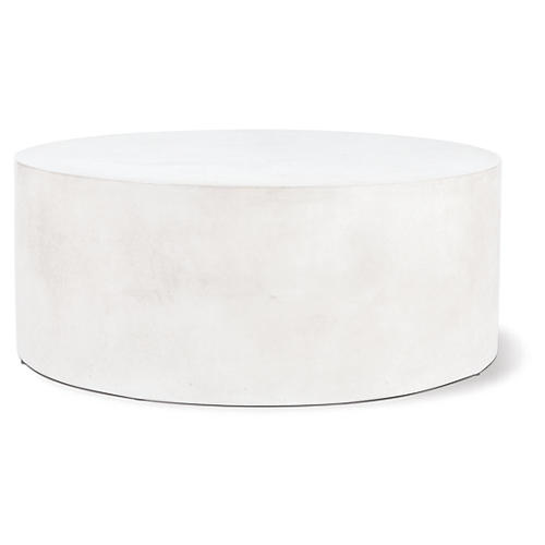 Grand Louie Concrete Coffee Table, Pearl