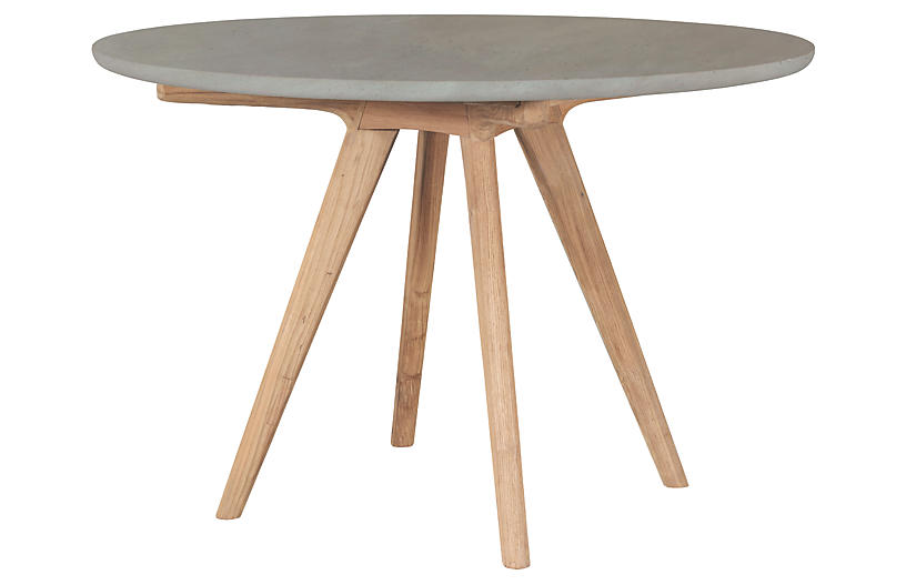 Viola Concrete Dining Table, Gray