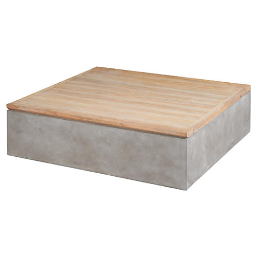 Millenia Concrete Coffee Table, Natural