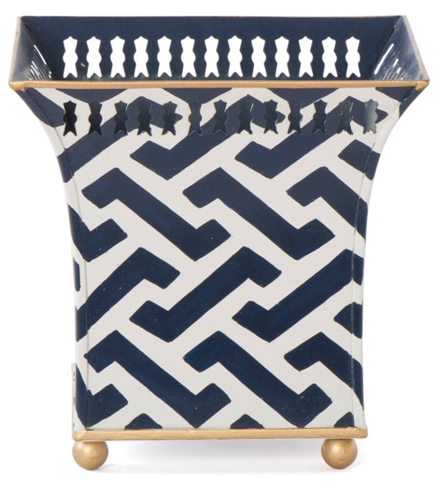 "7"" Planter, Midnight  Zigzag"