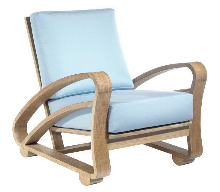 Cuban Outdoor Teak Lounge Chair