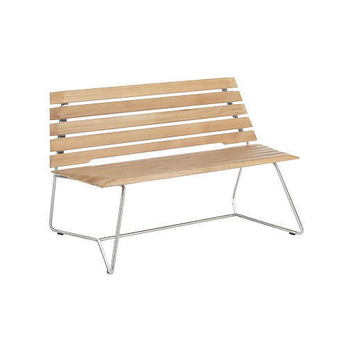 "Stratus 48"" Outdoor Teak Bench, Natural"
