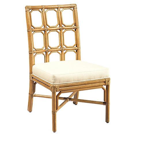 Evelyn Rattan Side Chair, Nutmeg