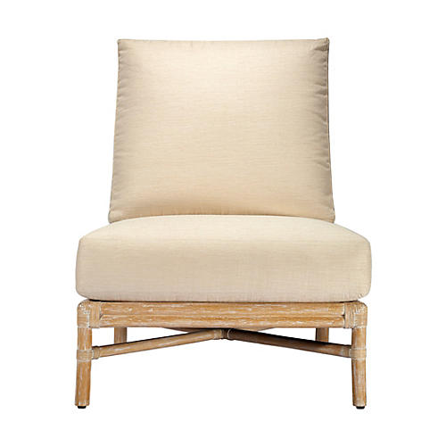 Olympia Rattan Slipper Chair, Nutmeg