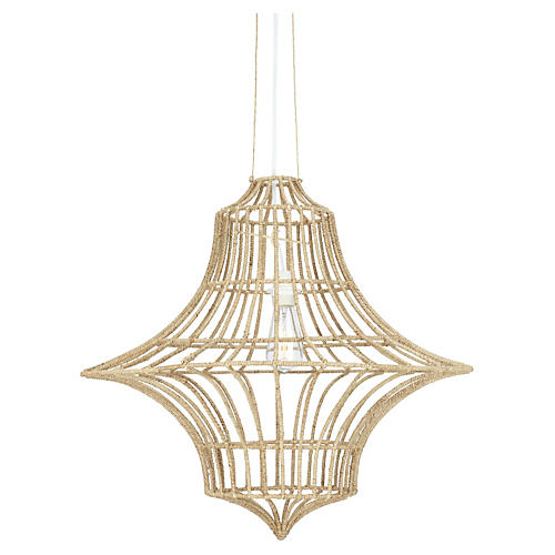 Vineyard 1-Light Chandelier, Almond