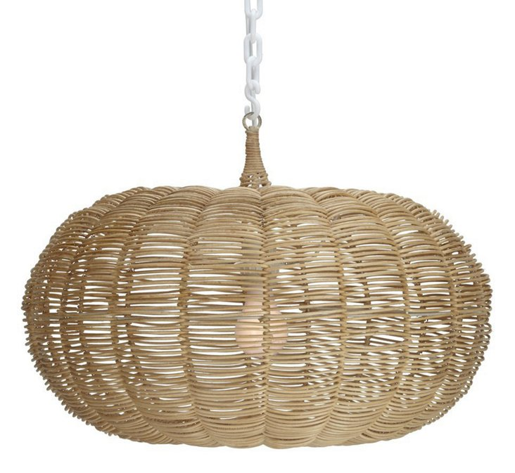 "14"" Calabash 1-Light Hanging Pendant"