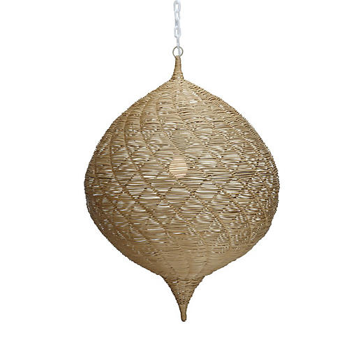 "34"" Calabash 1-Light Pendant, Almond"