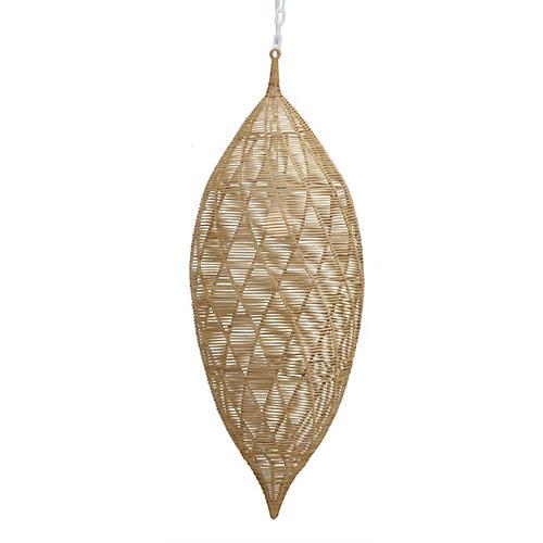 Small Calabash 1-Light Pendant, Almond