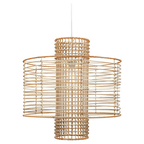 Deco 1-Light Pendant, Almond