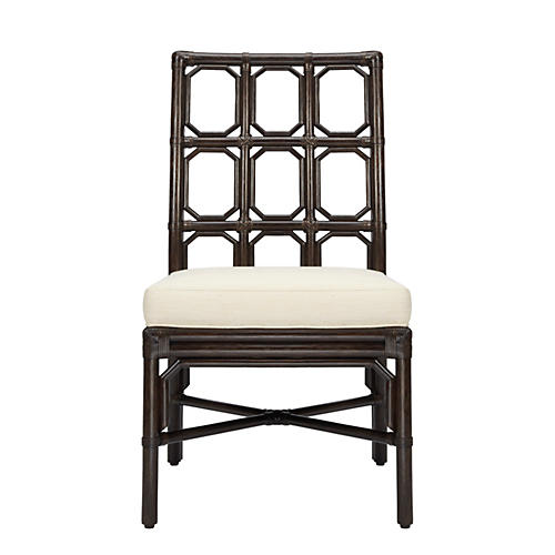 Evelyn Rattan Side Chair, Clove