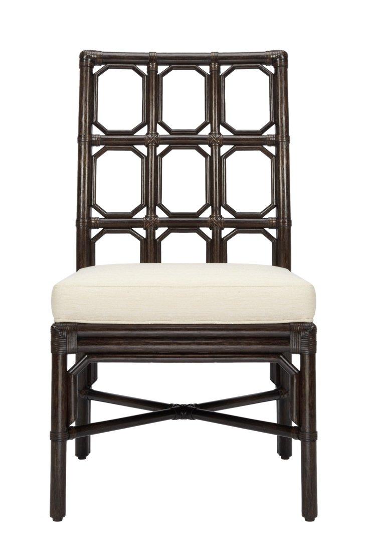 Evelyn Rattan Side Chair, Clove