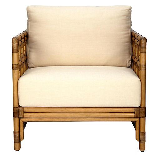 Eloise Rattan Lounge Chair, Nutmeg