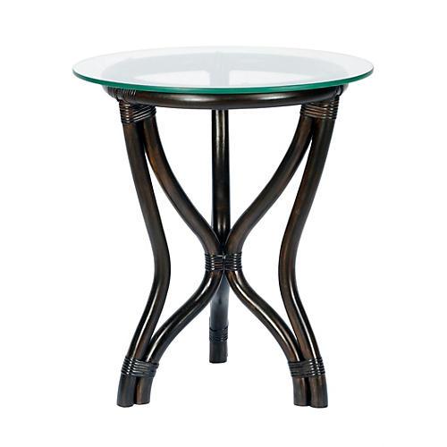 "Tertia 18"" Round Side Table, Clove"