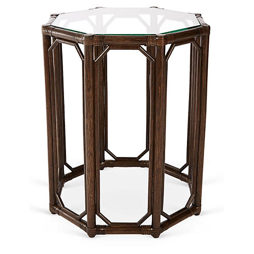 Short Eloise Octagonal Side Table, Clove