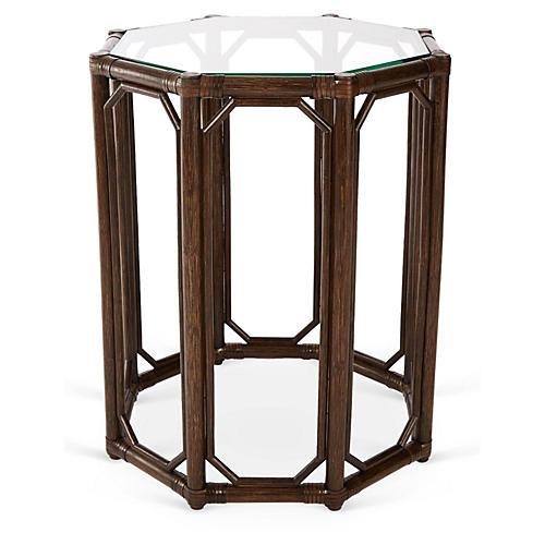 Short Eloise Octagonal Side Table, Clove