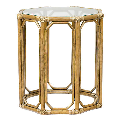 Eloise Octagonal Side Table, Nutmeg