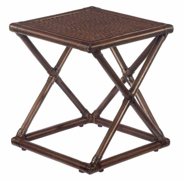 Vivienne Rattan Bunching Table, Clove
