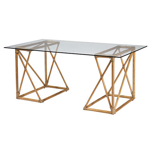 Vivienne Reversible Desk, Nutmeg