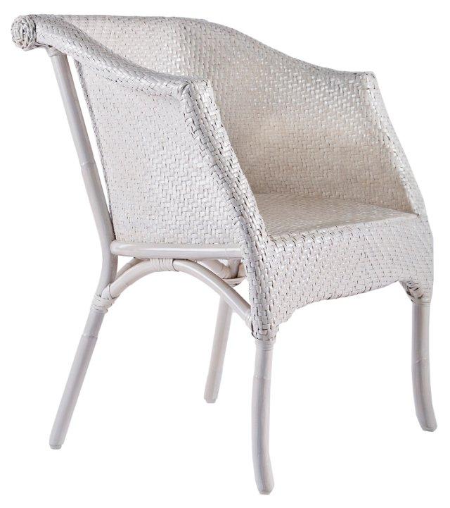 Madeline Rattan Chair, Salt