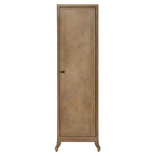 Annabel Tall Rattan Cabinet, Porcini