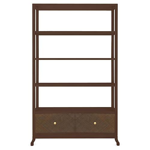 Annabel Bookcase, Hazelnut