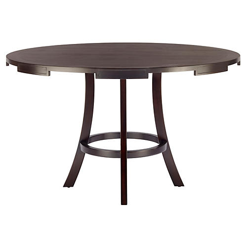 "Hadley 49"" Round Dining Table, Ebony"