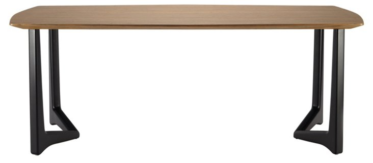 "Leticia 82"" Teak Dining Table, Onyx"