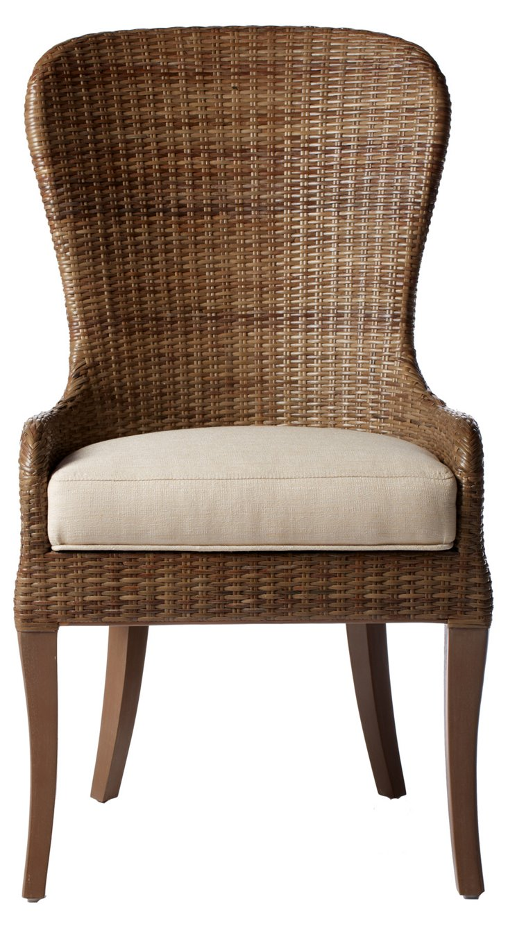 Eleanor Rattan Side Chair, Porcini