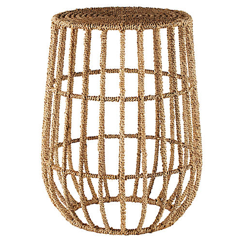 Luna Side Table, Jute