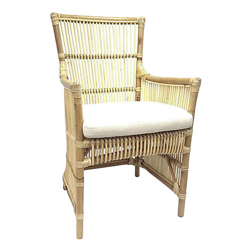 Millie Rattan Armchair, Natural
