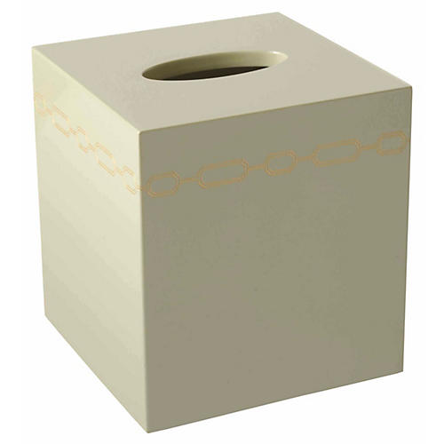 Norma Tissue Box Cover, Taupe