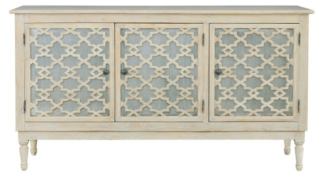 "Casablanca 64"" Trellis Buffet, Natural"