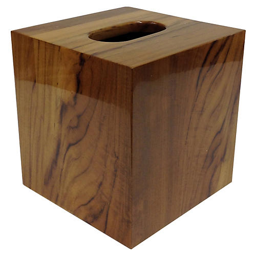 Captain's Tissue Box, Brown