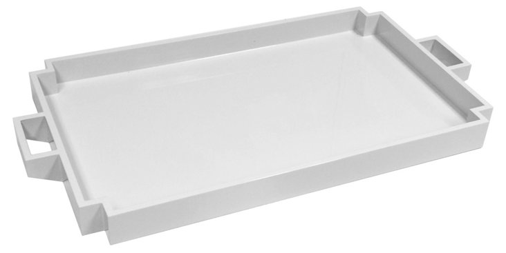 Deco Serving Tray, White