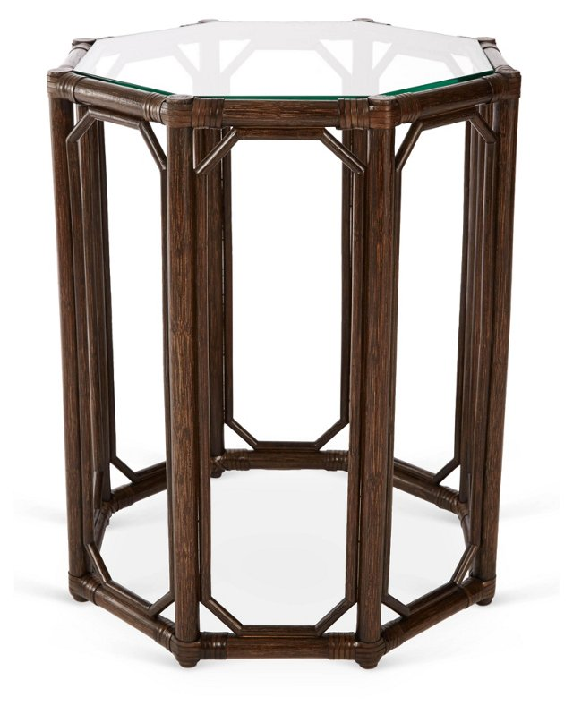 Tall Eloise Octagonal Side Table, Clove