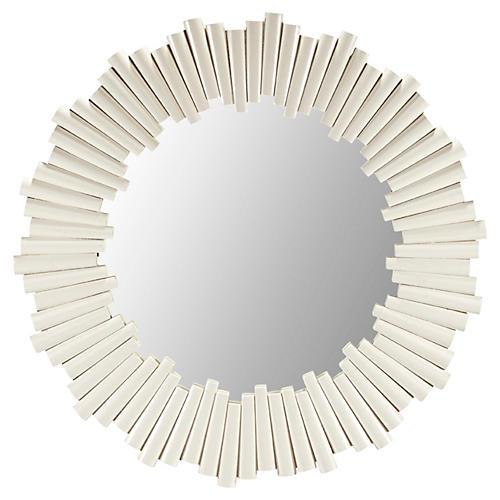 Dara Wall Mirror, White