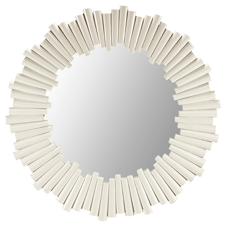 Dara Wall Mirror, White