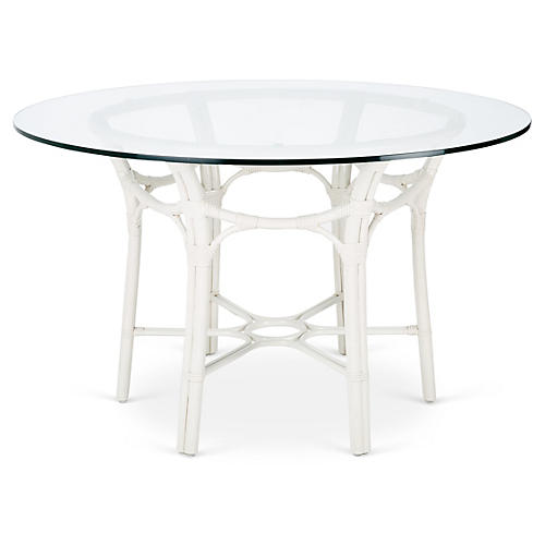 Clementina Round Dining Table, White