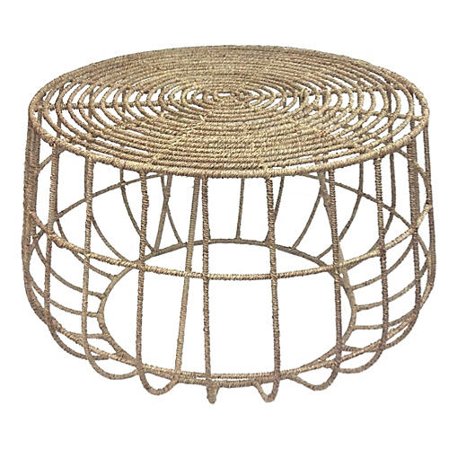 "Luna 30"" Jute Coffee Table, Natural"
