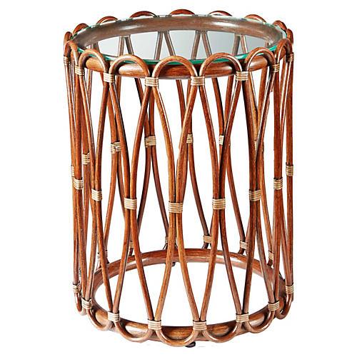"""Ella 16"""" Round Side Table, Cinnamon"""