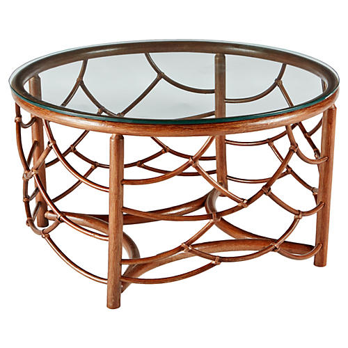"Dorian 30"" Round Coffee Table, Walnut"
