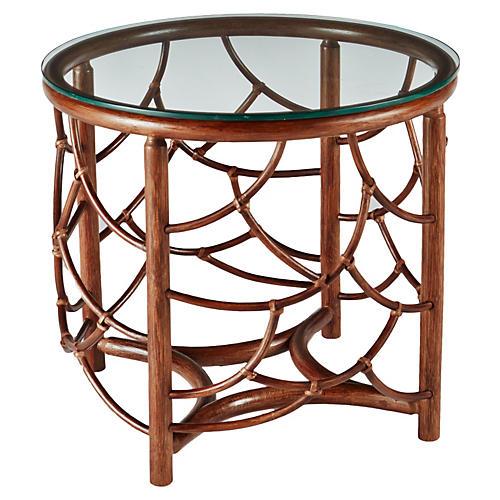 "Dorian 22"" Round Side Table, Nutmeg"