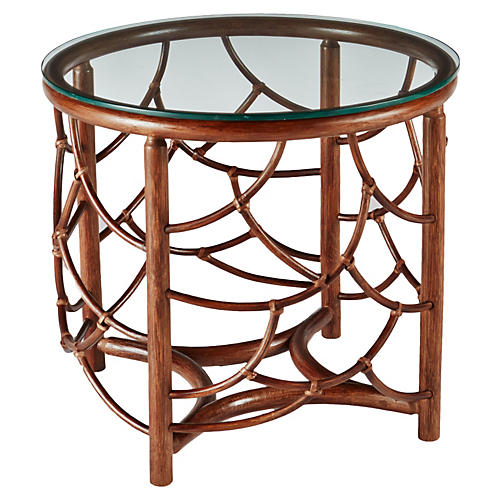 "Dorian 22"" Round Side Table, Nutmeg"