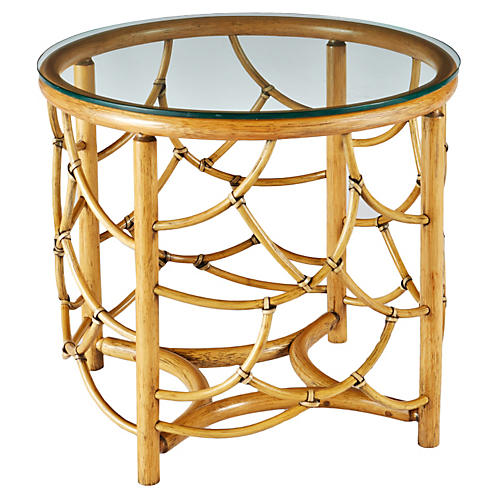 Dorian Rattan Round Side Table