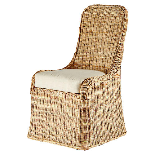 Pamona Rattan Side Chair, Natural