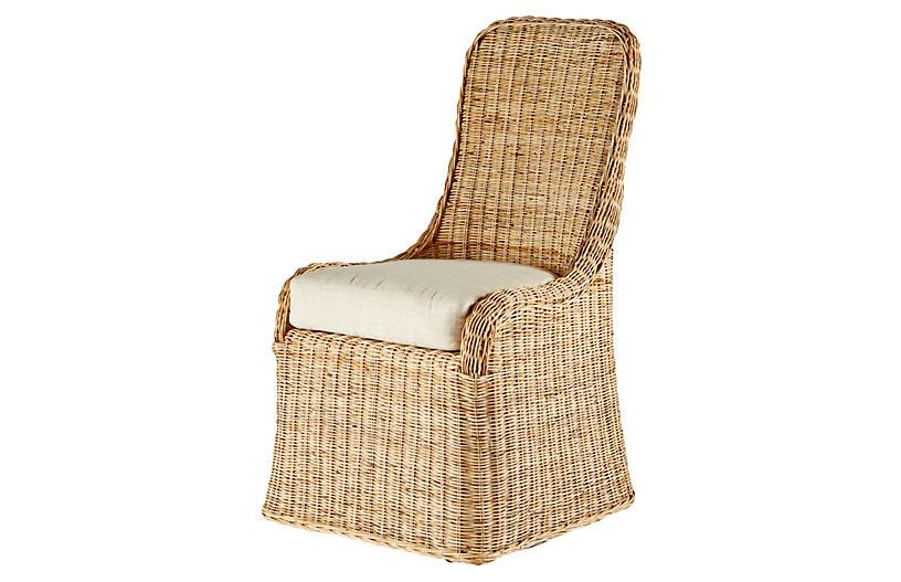 Pamona Rattan Side Chair, Natural